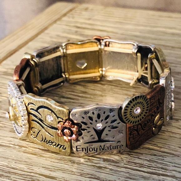 Jewelry - POSITIVE ENERGY STRETCH BRACELET W/ CUSTOM CHARMS